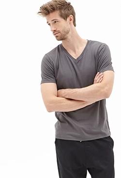 Forever 21 - V-Neck T Shirt