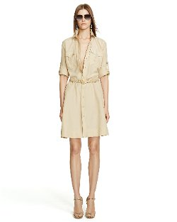 Ralph Lauren - Silk-Blend Safari Shirt Dress