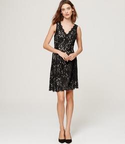 Loft - Lace V Neck Dress