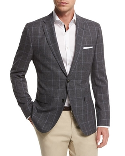 Boss Hugo Boss - Jeen Melange Windowpane Jacket
