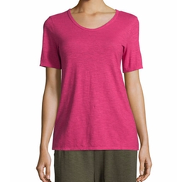 Eileen Fisher - Hemp/Cotton Twist V-Neck Tee