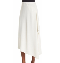 Helmut Lang - Draped-Side Crepe Midi Skirt