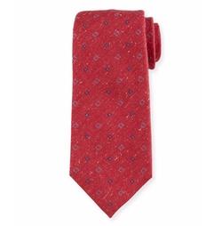 Isaia - Neat Flower-Printed Silk Tie