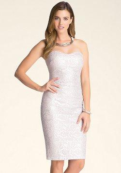 Bebe - Foil Lace Midi Dress