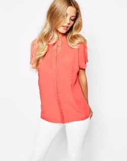 Vila - Oversized Short Sleeve Shirt