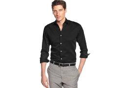 Alfani BLACK  - Marion Texture Shirt