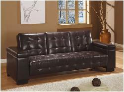 CASA - Coaster Sofa Bed, Dark Brown