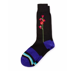 Paul Smith  - Mainline Striped Floral Socks