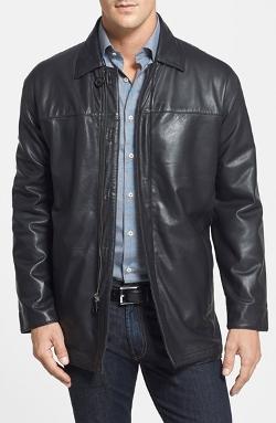 Missani Le Collezioni  - Leather & Lambswool Car Coat