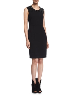 Burberry London - Embellished Cocktail Sheath Dress