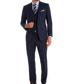 Amorstore  - Three Piece Notch Lapel Suit