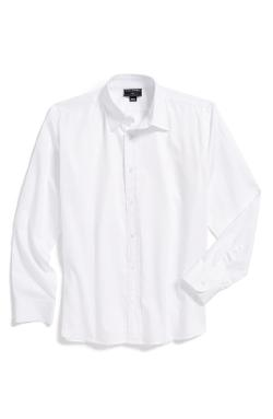 Oscar de la Renta  - Long Sleeve Cotton Dress Shirt