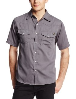 Dickies - Short Sleeve Solid Textured Western Shirt