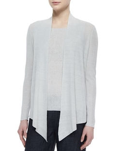 Eileen Fisher - Long Angled Linen-Blend Cardigan