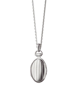 Monica Rich Kosann - Pinstriped Oval Locket Necklace