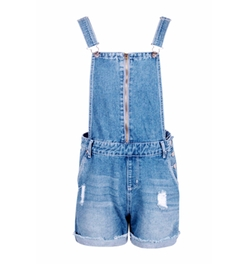 Boohoo Blue - Ava Festival Dungaree Shorts