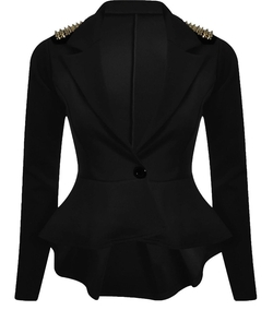 Chocolate Pickle - Stud Detail Shift Jacket