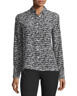 Rag & Bone - Poppy Abstract-Print Silk Shirt