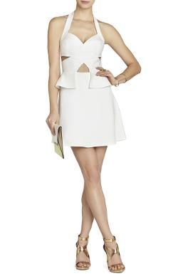 Bcbgmaxazria - DENISA CUTOUT HALTER DRESS