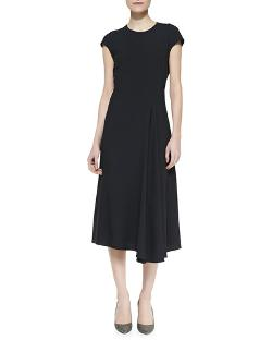 The Row	  - Koto Cap-Sleeve Crepe Dress