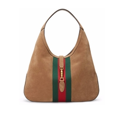 Gucci - Jackie Soft Large Suede Hobo Bag