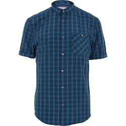 Navy Plaid  - Short Sleeve Shirt