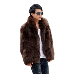 Zicac - Fur Jacket Hook & Eye Closed Luxury Coat