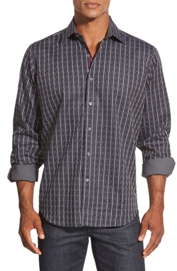 Bugatchi  - Classic Fit Long Sleeve Sport Shirt