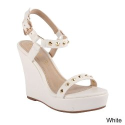Kayleen - Mayoko Ankle Strap Wedge High Heel Sandal