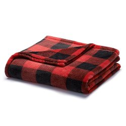 The Big One - Super Soft Plush Throw- Assorted Styles  Plaid Blanket
