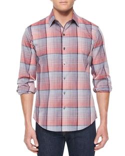 Zachary Prell  - Woven Plaid Long-Sleeve Shirt