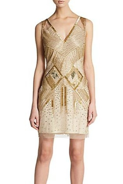 Aidan Mattox - Beaded Sleeveless Deco Dress