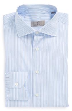 Canali  - Regular Fit Stripe Dress Shirt
