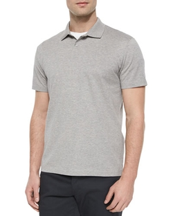 Theory - Sandhurst Short-Sleeve Pique Polo Shirt, Gray
