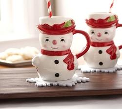 Pottery Barn - Snowman Mug