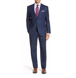 David Donahue - Ryan Classic Fit Solid Wool Suit