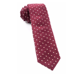 The Tie Bar  - Dot Print Silk Tie