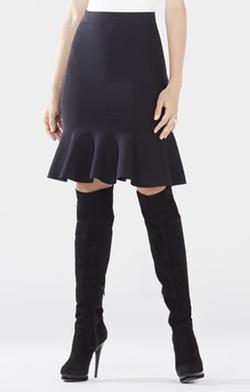 BCBGMAXAZRIA - Sanya Flounce Hem Skirt