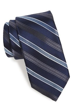 Michael Kors - Mt. Supery Stripe Woven Silk Tie