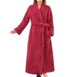 Columbustore - Plush Soft Warm Fleece Hotal Bathrobe