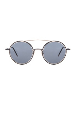 Thom Browne - Round Metal Frame Sunglasses