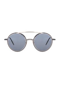 Thom Browne - Round Metal Frame Sunglasses