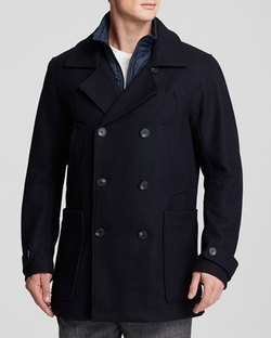 Marc New York  - Mulberry Wool Blend Pea Coat