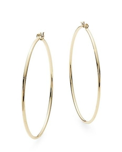 Nine West  - Large Tubular Hoop Earrings