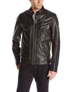 Boss Orange  - Jips Leather Biker Jacket