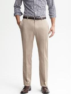 Banana Republic - Tailored Slim Non-Iron Cotton Pant
