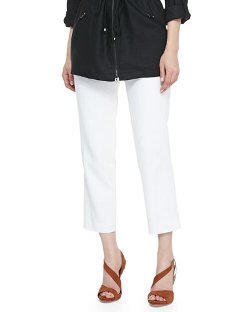 Magaschoni   - Lined Linen Ankle Pants