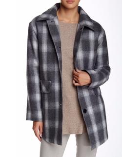 Pendleton - Wool Blend Shirting Plaid Coat