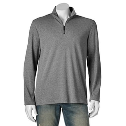 Apt. 9  - Modern-Fit Zip Textured Pullover Shirt