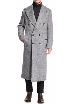 Michael Kors - Herringbone Double-Breasted Wool Coat